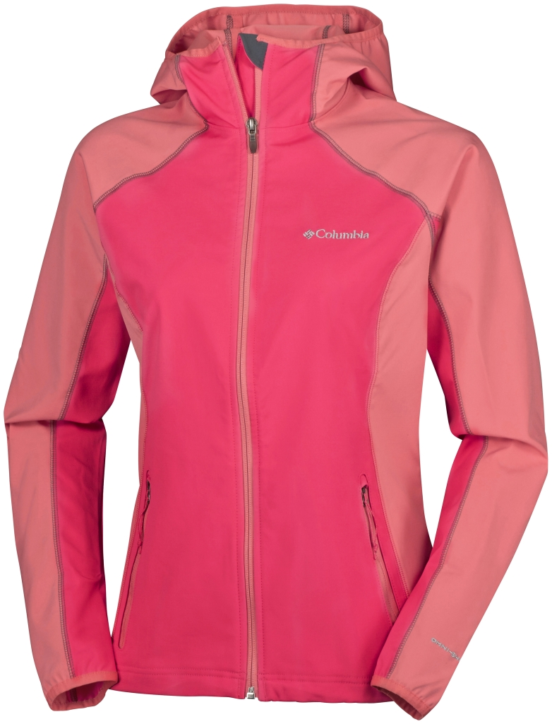 Columbia Whisper Creek Softshell Bright Geranium, Coral Bloom-30