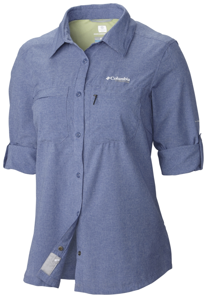 Columbia Irico Long Sleeve Shirt Bluebell Heather-30