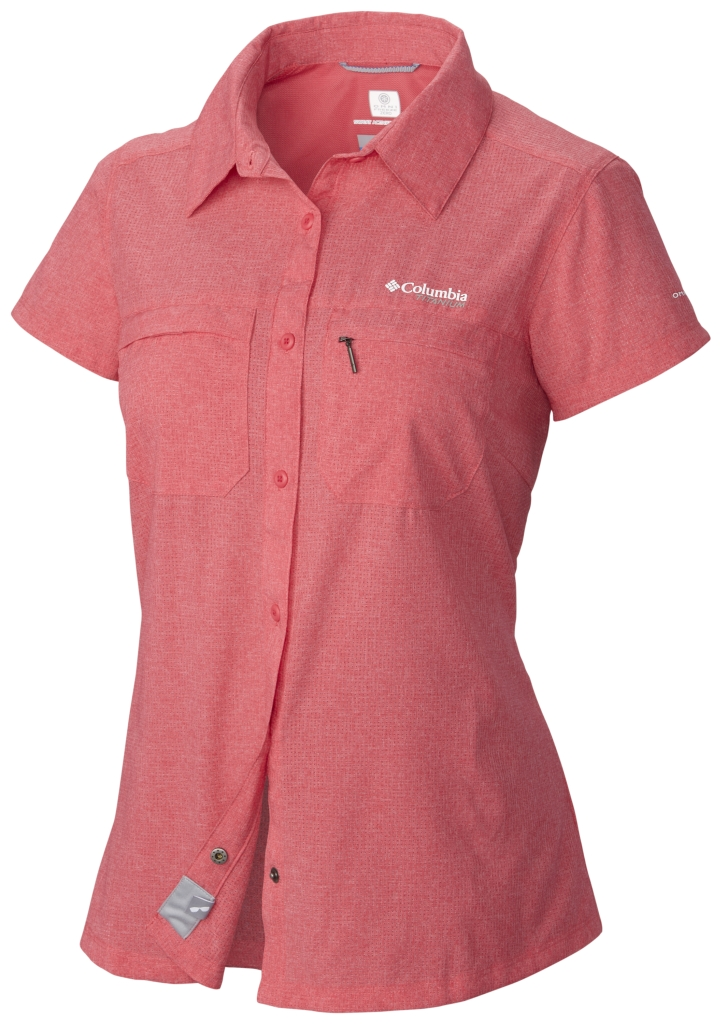 Columbia Irico Short Sleeve Shirt Bright Geranium Heather-30
