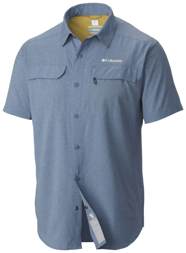Columbia Irico Men's Short Sleeve Shirt Steel Heather-30