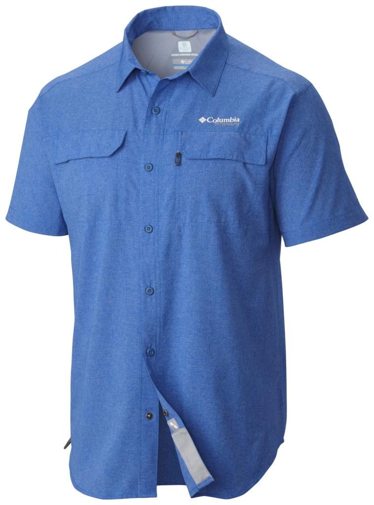 Columbia Irico Men's Short Sleeve Shirt Super Blue Heather-30