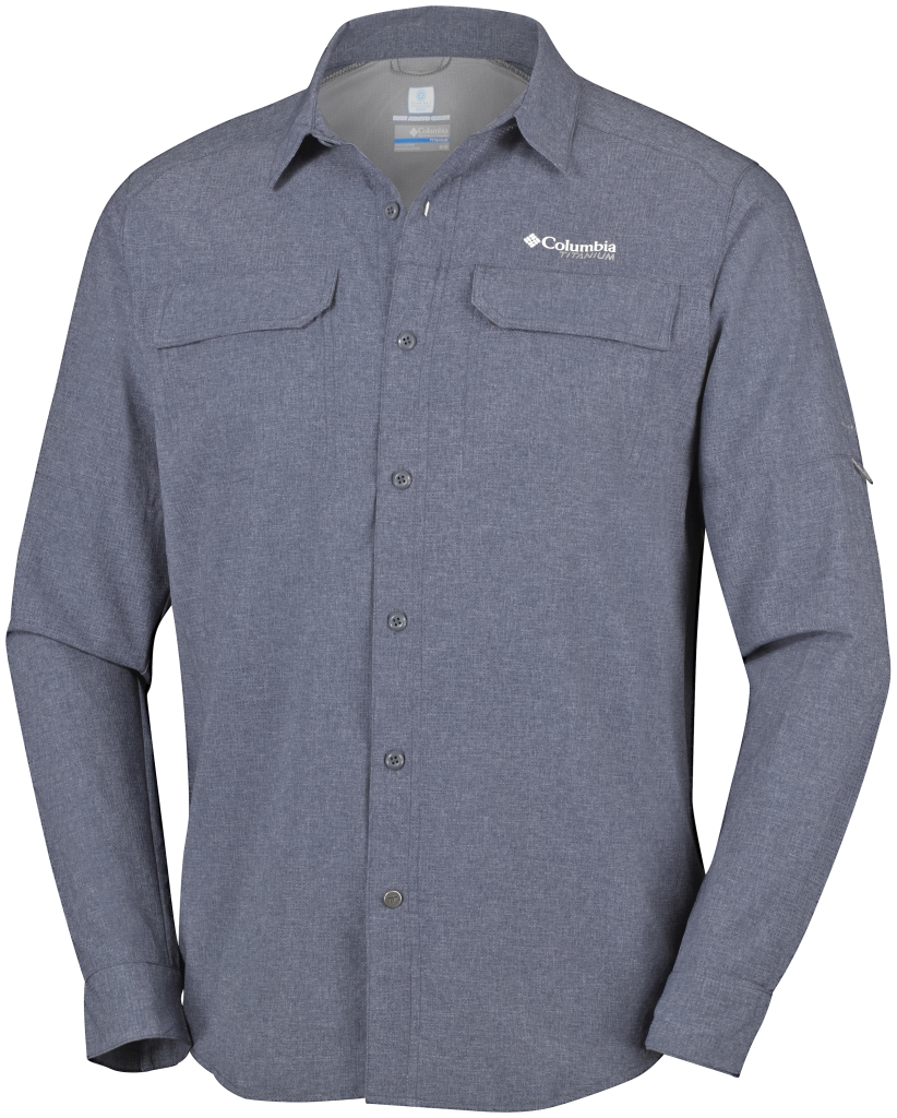 Columbia Irico Men's Long Sleeve Shirt Graphite Heather-30
