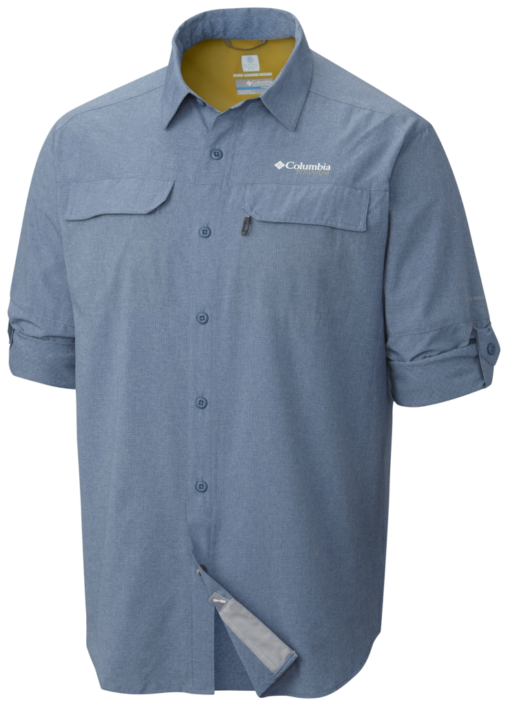 Columbia Irico Men's Long Sleeve Shirt Steel Heather-30