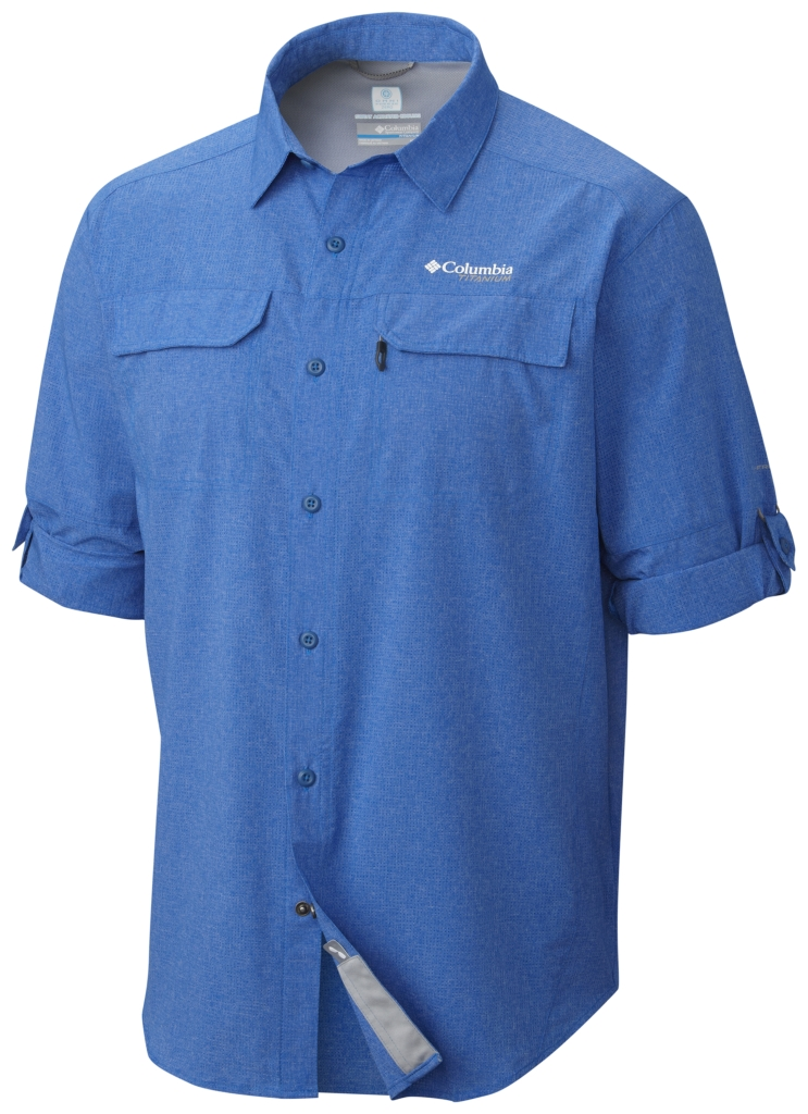 Columbia Irico Men's Long Sleeve Shirt Super Blue Heather-30