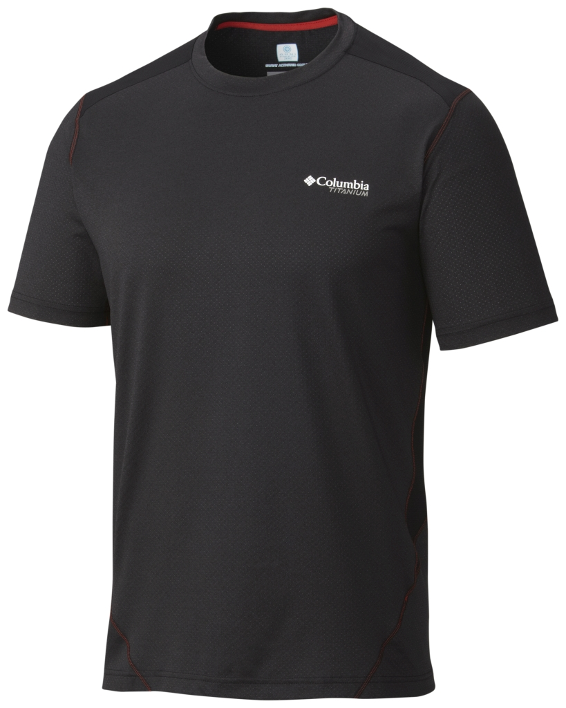 Columbia Titan Ice Mens Short Sleeve Shirt Black Heather-30
