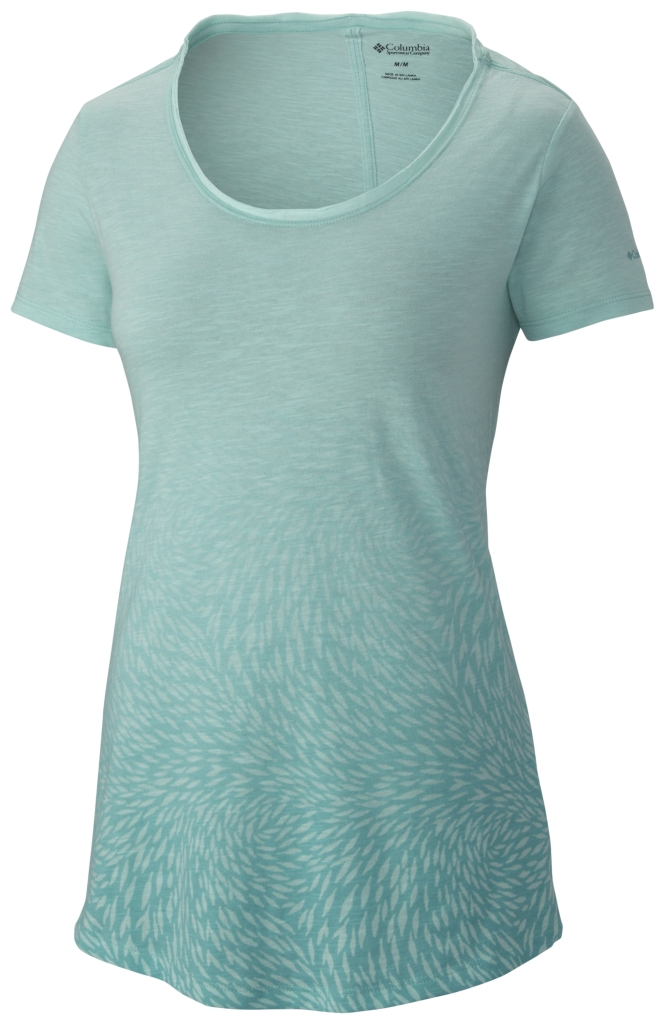 Columbia Ocean Fade Short Sleeve Tee Ocean Water Heather-30