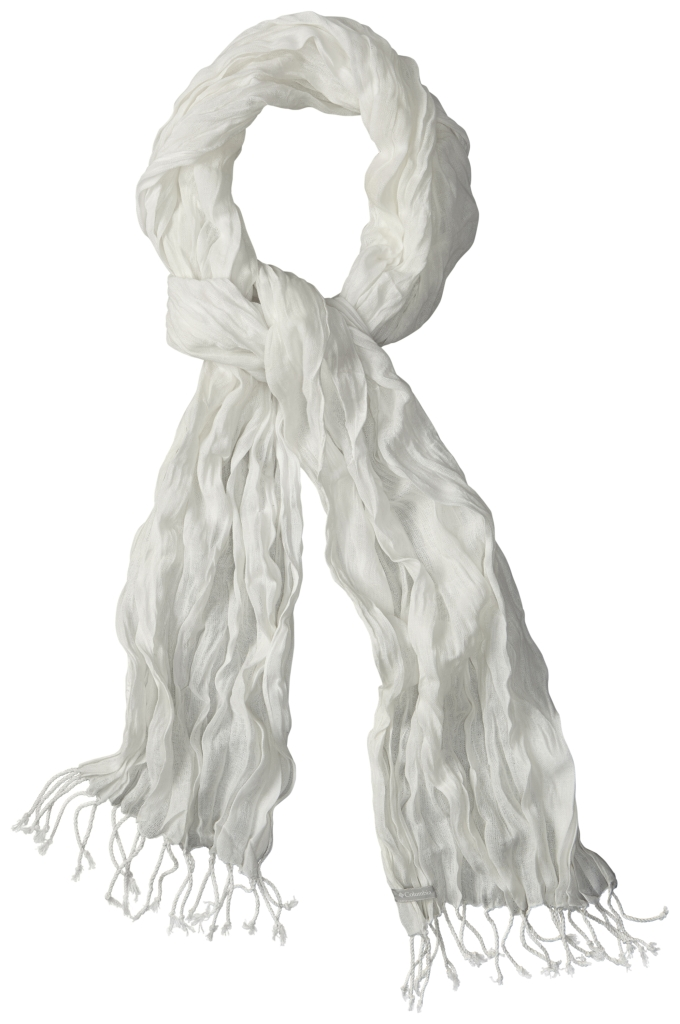 Columbia Wayfarer Scarf White, Crinkle-30