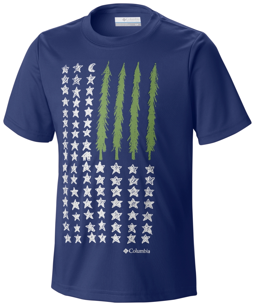 Columbia Camp Americana Graphic Tee Super Blue-30