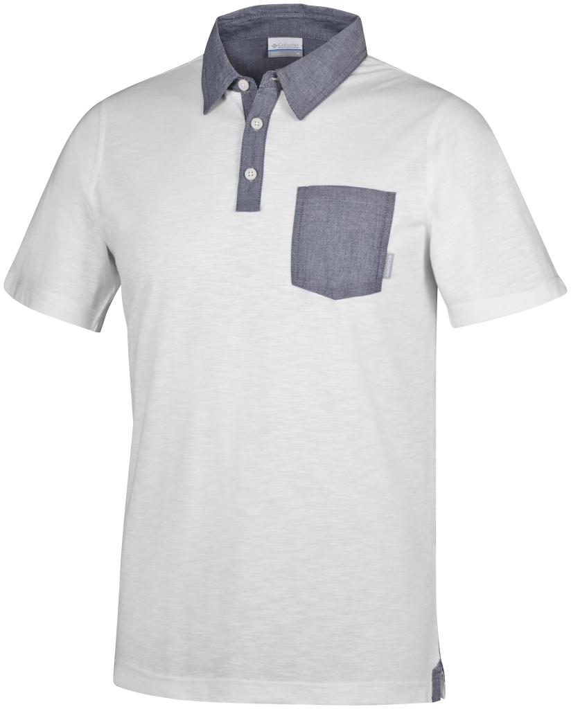 Columbia Lookout Point Novelty Polo White, Collegiate Navy-30