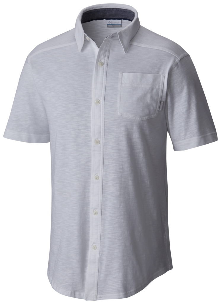 Columbia Lookout Point Short Sleeve Knit Shirt White-30