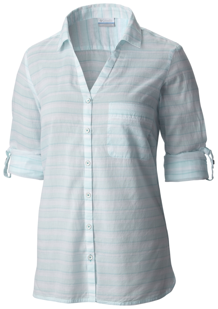 Columbia Early Tide LS Shirt Ocean Water Stripe-30