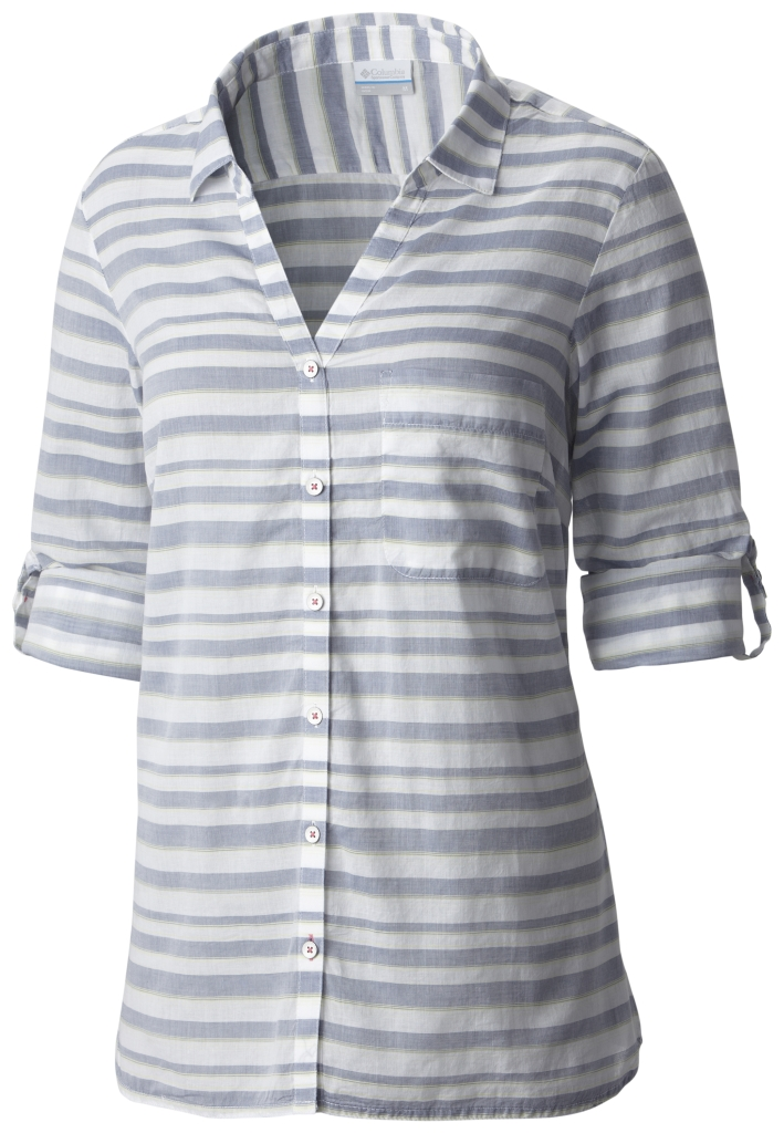 Columbia Early Tide LS Shirt Bluebell Stripe-30