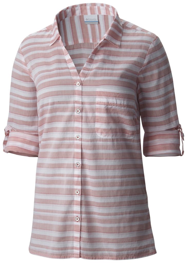 Columbia Early Tide LS Shirt Coral Bloom Stripe-30