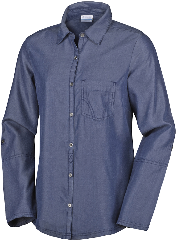 Columbia Wayfarer Tencel Long Sleeve Shirt Dark Indigo-30