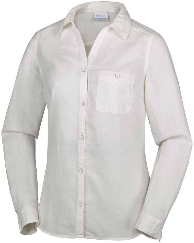 Columbia Coastal Escape Long Sleeve Shirt Sea Salt-30
