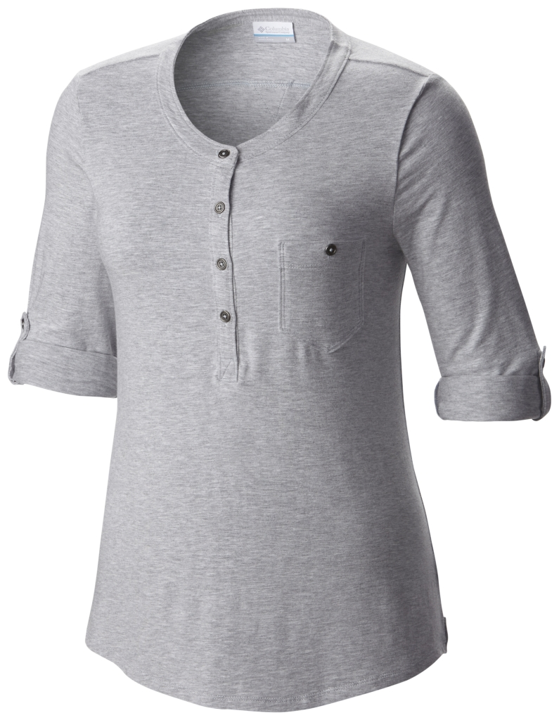 Columbia Spring Drifter 3/4 Sleeve Shirt Cirrus Grey Heather-30