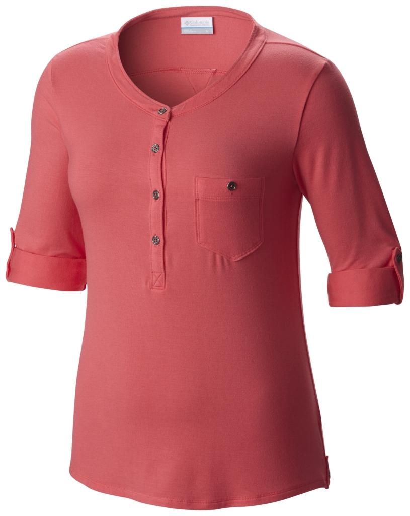 Columbia Spring Drifter 3/4 Sleeve Shirt Bright Geranium-30