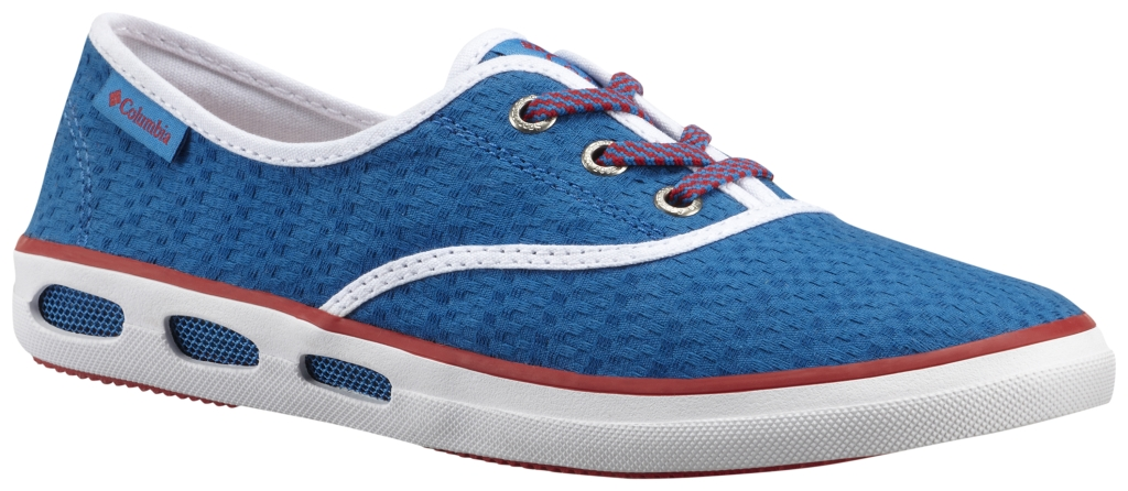 Columbia Vulc N Vent Lace Canvas II Blue Magic, Bright Red-30