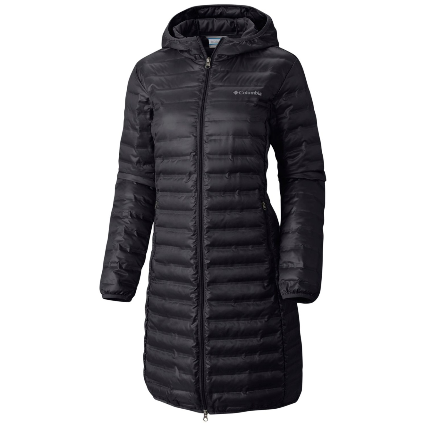 Columbia Women's Flash Forward Long Down Jacket Black-30
