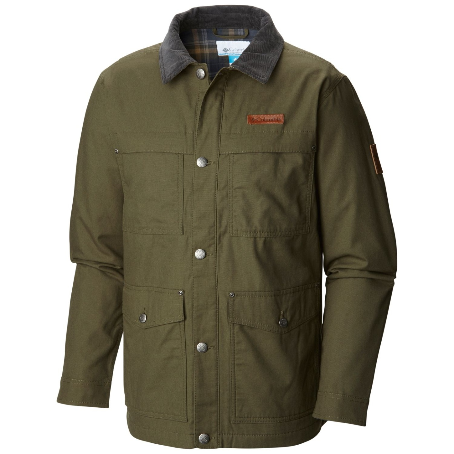 Columbia Men's Loma Vista Flannel Jacket Peatmoss-30