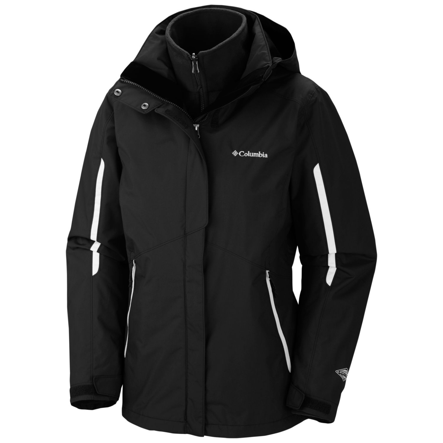 Columbia Women's Bugaboo Interchange Ski Jacket Black-30