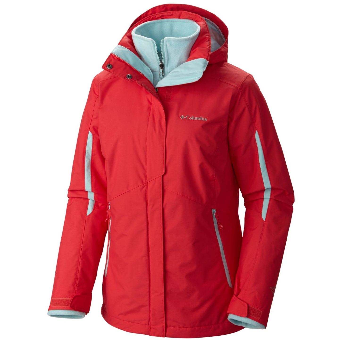 Columbia Women's Bugaboo Interchange Ski Jacket Red Camelia-30