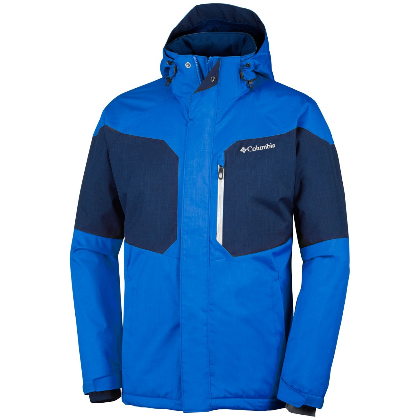 Columbia Men's Alpine Action Ski Jacket Extended Size Super Blue, Collegiate Navy-30