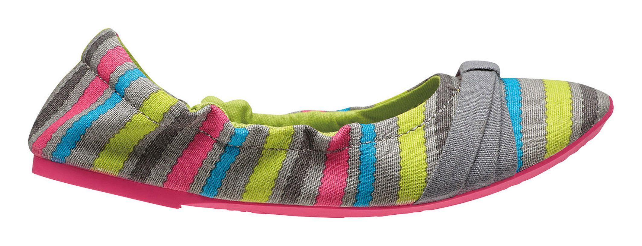 Keen Cortona Bow Bright Chartreuse Stripes-30