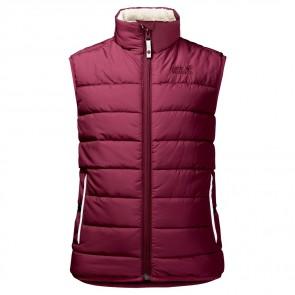 Jack Wolfskin K Black Bear Insulated Vest garnet red-20