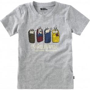 FjallRaven Kids Sleeping Foxes T-shirt Grey-20