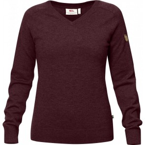 FjallRaven Sormland V-Neck Sweater W Dark Garnet-20