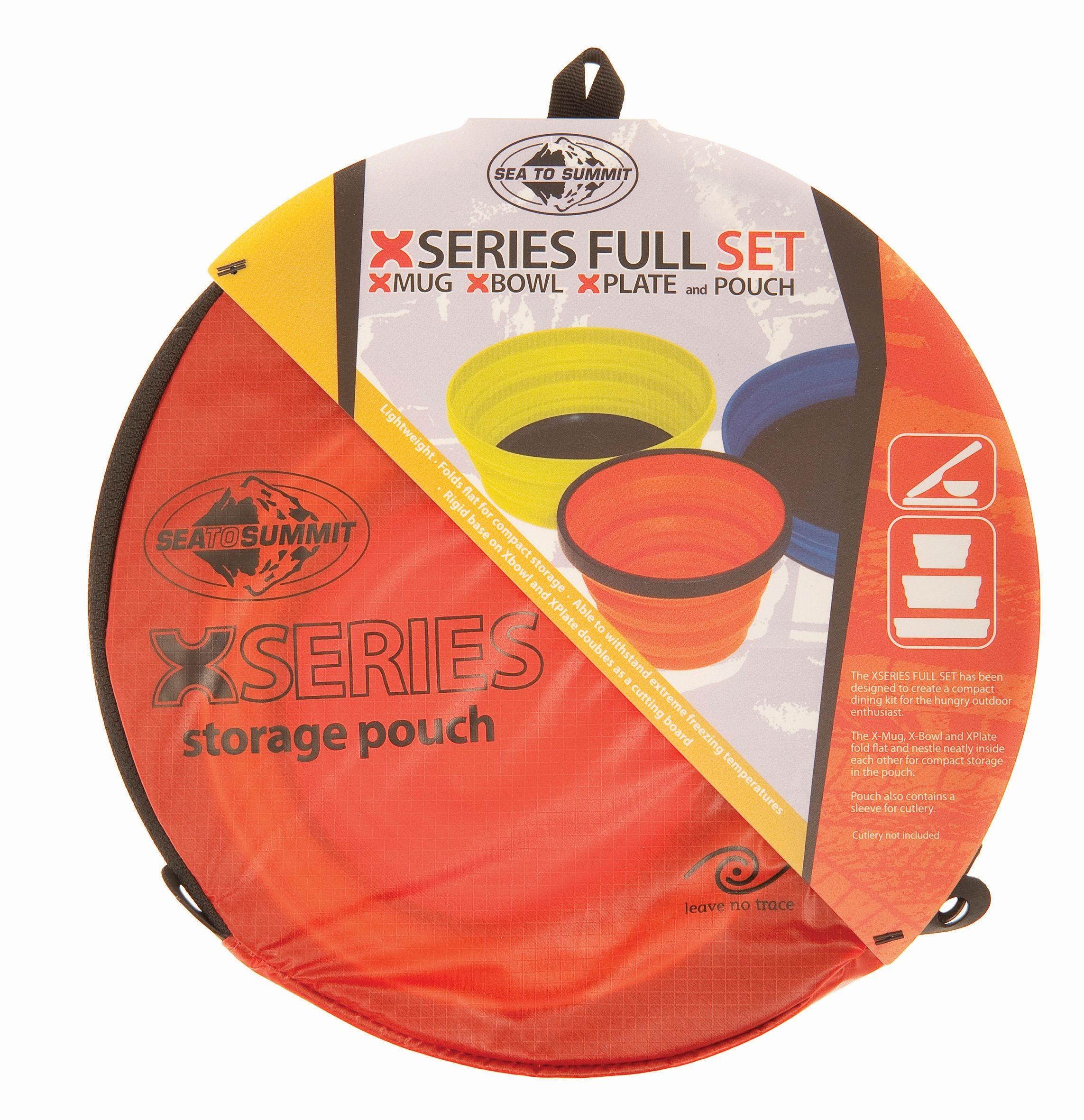 Sea To Summit X Set 3-Piece (X-Mug,X Bowl, X Plate & Storage Pouch)