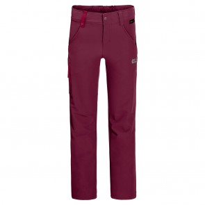 Jack Wolfskin Activate Pants Kids dark ruby-20