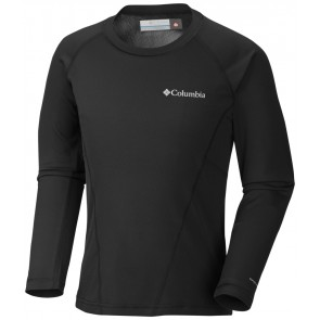 Columbia Youth Baselayer Midweight Crew 2 Black B-20
