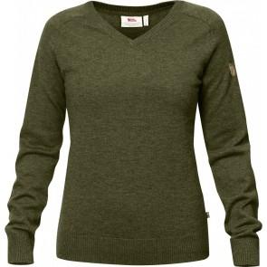 FjallRaven Sormland V-Neck Sweater W Dark Olive-20