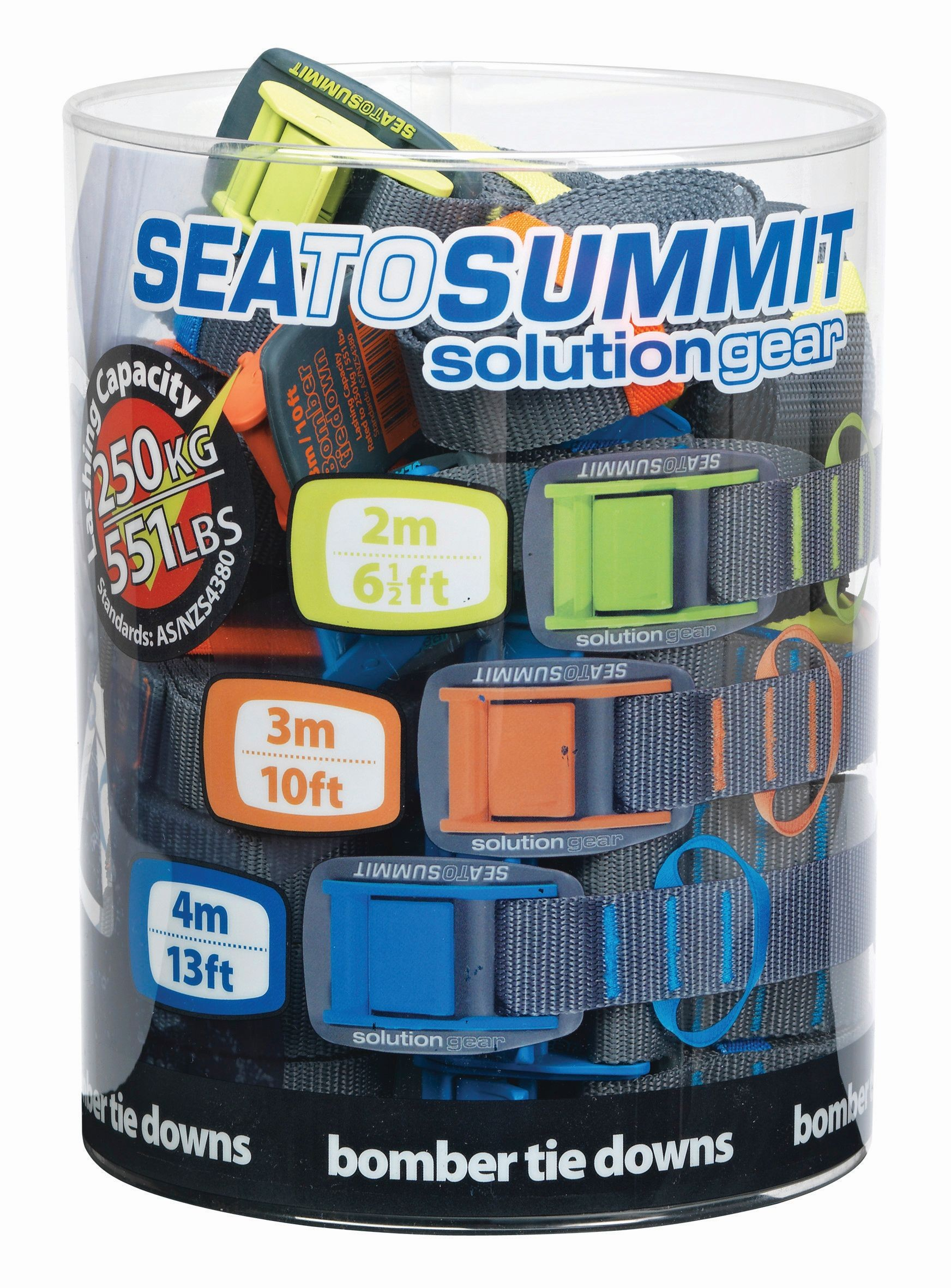 Sea To Summit Bomber Tie Down Retail Pack 6 units of each size