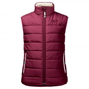 Jack Wolfskin K Black Bear Insulated Vest garnet red-20
