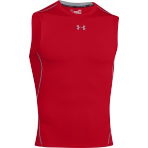 Under Armour UA HeatGear Armour Sleeveless Compression Shirt Red/Steel-20