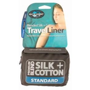 Sea To Summit Silk/Cotton Travel Liner Standard (Rectangular) Navy Blue-20