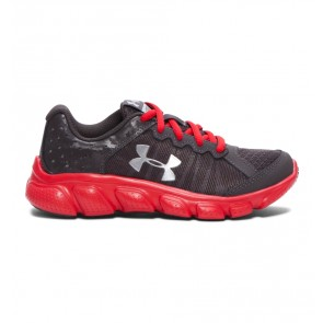 Under Armour Pre-School UA Assert 6 Boys' Running Shoe Anthracite (019) Charcoal / Red / Metallic Silver-20
