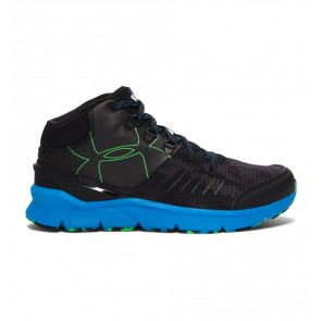 Under Armour UA Overdrive Mid Grit Boys' Shoe Black (003) Black / Snorkel / Laser Green-20
