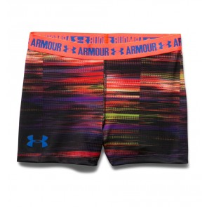"Under Armour UA HeatGear Armour Printed – 3"" Girls' Shorts Purple Sky (937) Full Spectrum-20"