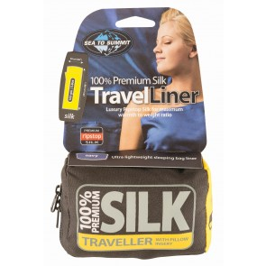 Sea To Summit Silk Stretch Liner Traveller (with Pillow slip) Navy Blue-20