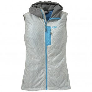 Outdoor Research Women's DeviatHooded Vest alloy/pewter-20