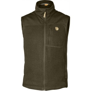 FjallRaven Buck Fleece Vest Dark Olive-20