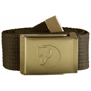 FjallRaven Canvas Brass Belt 4 cm. Dark Olive-20