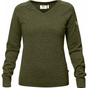 FjallRaven Sormland V-Neck Sweater W Dark Olive-20