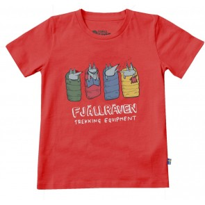 FjallRaven Kids Sleeping Foxes T-shirt Red-20