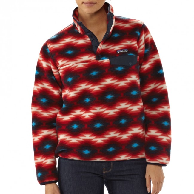 Patagonia W's Synchilla Snap-T Pullover Wild Desert: Classic Red - au