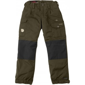 FjallRaven Kid's Vidda Padded Trousers Dark Olive-20